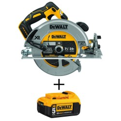 20-Volt MAX XR Li-Ion Brushless Cordless 7-1/4 in. Circular Saw with Brake (Tool-Only) with 20-Volt Li-Ion Battery 5 Ah