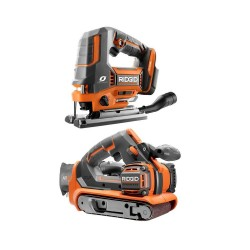 18-Volt Cordless 2-Tool Combo Kit with OCTANE Brushless Jig Saw and Brushless 3 in. x 18 in. Belt Sander (Tools Only)