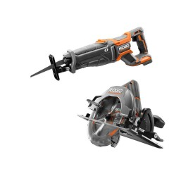 18-Volt Cordless 2-Tool Combo Kit with Brushless Circular Saw and OCTANE Brushless Reciprocating Saw (ToolsOnly)