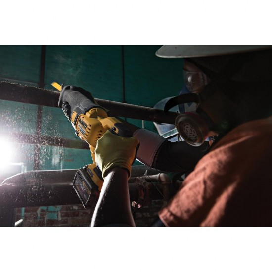 FLEXVOLT 60-Volt MAX Lithium-Ion Cordless Brushless Reciprocating Saw with (2) Batteries 2Ah and Bonus Drill/Driver