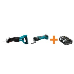 18-Volt LXT Lithium-Ion Cordless Reciprocal Saw and Multi-Tool with Free 4.0Ah Battery (2-Pack)