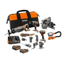 18-Volt Lithium-Ion Cordless 12-Piece Combo Kit with (1) 4.0 Ah Battery, (1) 2.0 Ah Battery, Charger, and Bag
