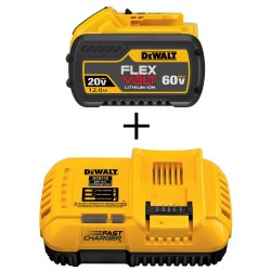 FLEXVOLT 20-Volt/60-Volt MAX Lithium-Ion 12.0 Ah Battery Pack and 20-Volt MAX Li-Ion Fan Cooled Fast Battery Charger