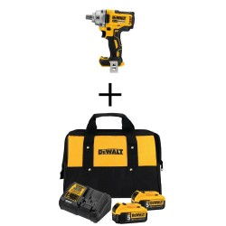 20-Volt MAX XR Cordless Brushless 1/2 in. Impact Wrench with (2) 20-Volt 5.0Ah Batteries, Charger and Bag