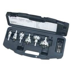 TKO Master Electrician's 7/8 in. to 2-1/2 in. Carbide-Tipped Hole Cutter Kit (8-Piece)