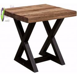 - Wesling End Table,  Top W/ Black Base