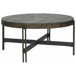 - Jillenhurst Round Rustic Cocktail Table, Dark  Dark