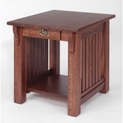 #161 Solid Oak  End Table