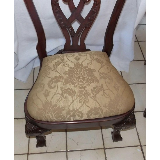 Mahogany Carved De Chair / Sidechair  (SC222)