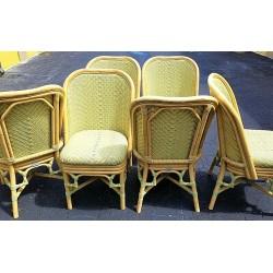 (6)  VENTURE FURNITURE PE Rattan Wicker + Aluminum Outdoor Dining Chairs
