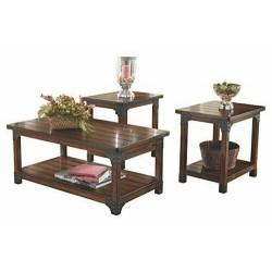 - Murphy 3-Piece Occasional Wooden Table Set, Medium  Table Set