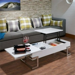 Calnan Lift Top Coffee Table in  and Chrome