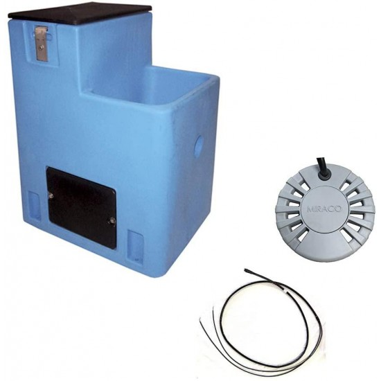 Miraco Lil' Spring 2801 Single Sided Automatic Livestock Waterer - Blue Heated