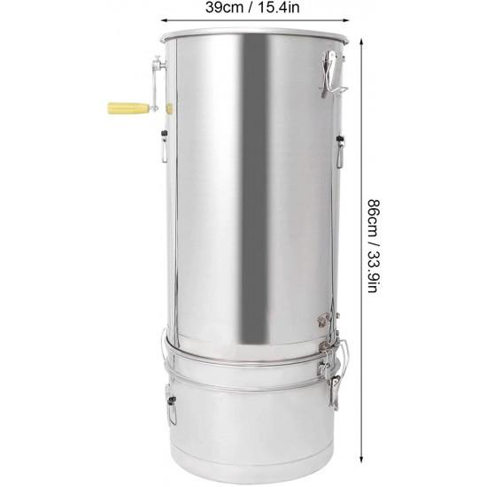 Deryang Honey Extractor, Easy to Operate Bee Extractor, Labor-Saving Rust-Resistant Sturdy for Beekeeper Honey Accessory Beekeeping