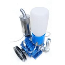 1440rpm Portable Electric Vacuum Pump Milk Machine Fit for Cow Goat Milking Milker Bucket Tank Barrel Fast Speed Milking 250L/min with Belt Pulley Milker