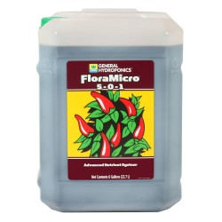 General Hydroponics HGC718135 FloraMicro 5-0-1, Use with FloraBloom & FloraGro For A Tailor-Made Nutrient Mix Ideal for Hydroponics, 6-Gallon