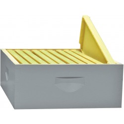 10-Frame Assembled Painted Honey Super Kit, Standard Plastic Frames, Made in The USA