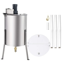 CO-Z Electric Honey Extractor SS Beekeeping Equipment Spinner Drum with Stand (4 Frame)