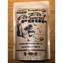 5lb. Papas Perfect Poop 100% Organic Plant Food & Fertilizer. Patented & OMRI Listed - 5lb Bag