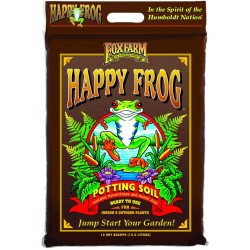 FoxFarm FX14054 Happy Frog Nutrient Rich and pH Adjusted Rapid Growth Garden Potting Soil Mix is Ready to Use, 12 Quart (4 Pack)