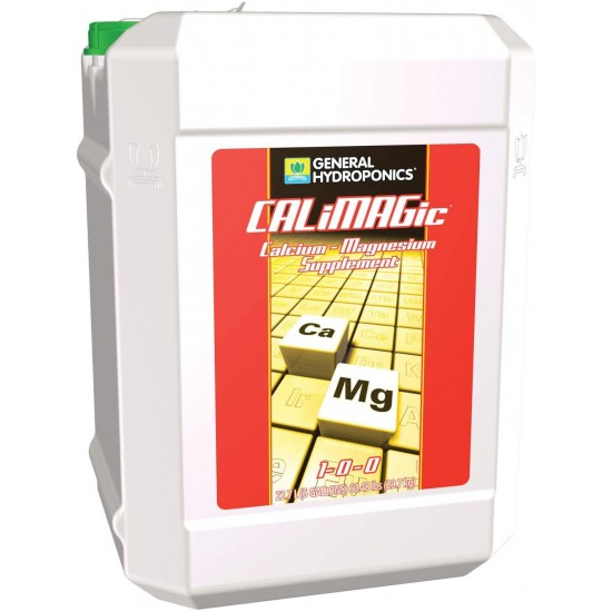 General Hydroponics CALiMAGic 1-0-0, Concentrated Blend of Calcium & Magnesium, Secondary Nutrient Deficiencies Helps Prevent Blossom End Rot & Tip Burn, Clean, Soluble, 6 gallon, Brown/A