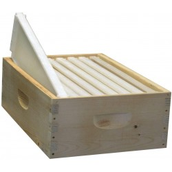 8-Frame Assembled Honey Super Kit, Standard Plastic Frames, Made in The USA
