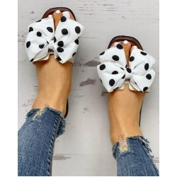 Bowknot Design Open Toe Sandals