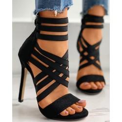 Bandage Peep Toe Stiletto Heels