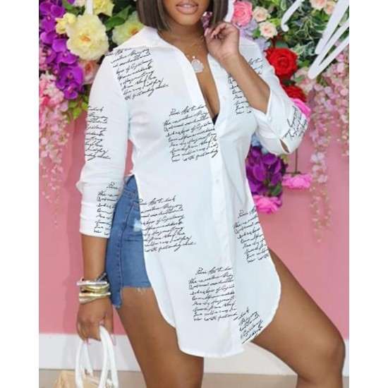 Letter Printed Blouse